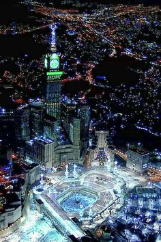 Beautiful Mecca at night