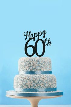 Happy 60th Cake Topper60th Birthday TopperHappy Anniversary Topper
