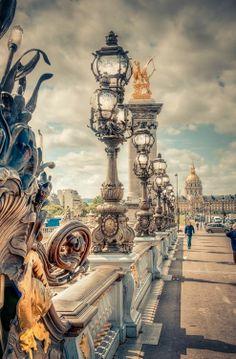 Pont Alexandre III, Paris - by Alex Hill