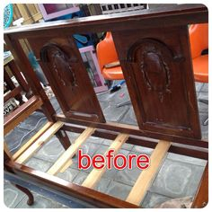 Gorgeous 1920's Bed repurposed by Vintage Treasures Capalaba into bench seat. See other pics for finished product