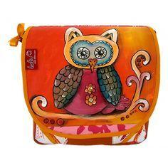 Herbst-Eule, handgefertigte Handtasche von Leolini #owl #handcrafted #unique #bag #leolini