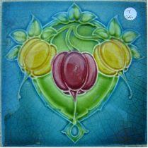 TILE - ART NOUVEAU TILE Azulejos Art Nouveau, Art Nouveau Tiles, Tile Art, Mosaic Art, Mosaics, William Morris Art, Handmade Stamps, Vintage Tile, Stencil Art