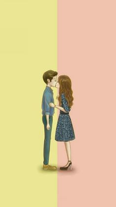 W- two worlds wallpaper Tumblr Cute Couple, Cute Love Couple, Couples In Love, W Two Worlds Wallpaper, World Wallpaper, Love Cartoon Couple, Anime Love Couple, Wallpaper Iphone Love, Cartoon Wallpaper