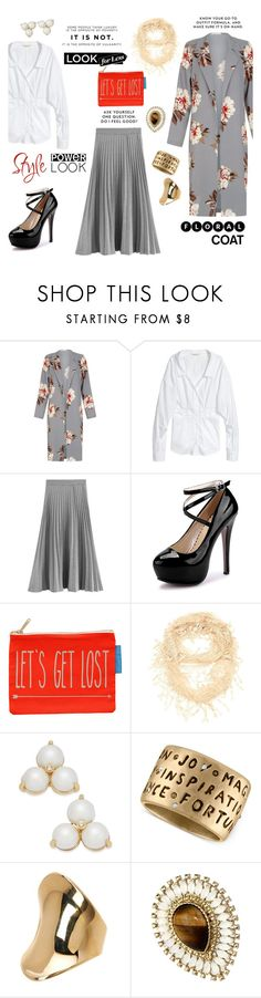 """""""Look for Less: Floral Coat"""" by taci42 ❤ liked on Polyvore featuring Flight 001, Kate Spade, Rachel Rachel Roy, 14th & Union, WithChic, Chanel, LookForLess, floral and coat"""