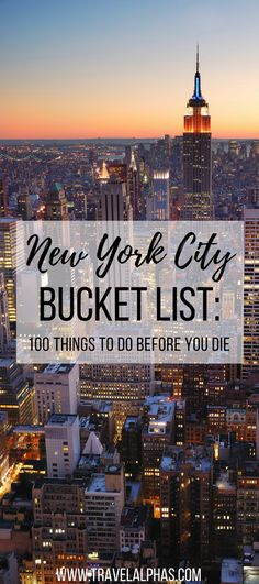 Everything You Need to Know for Your First Visit to New York City ...