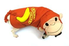 Crazy Monkey Dog Costume woven polyester stuffed body and poly applique banana is a cute combo for this costume. Velcro adjustable and comfort fitting. It is Screen printed with banana applique. Monkey Costumes, Dog Halloween Costumes, Pet Costumes, Halloween Items, Animal Costumes, Puppy Costume, Pet Steps, Designer Dog Clothes, Schnauzer Puppy