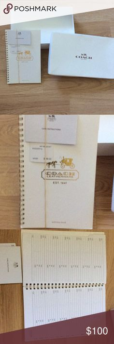 """Address Book Authentic Coach address book to fit a 5""""x8"""" binder/angle day book refill. Selling because I have no use for it now. Never used. Coach Other"""