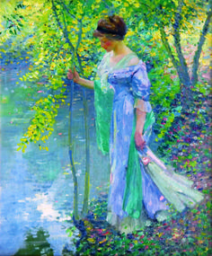 """""""Water,"""" Karl Albert Buehr, 1911, oil on canvas, 26 x 21"""", private collection."""