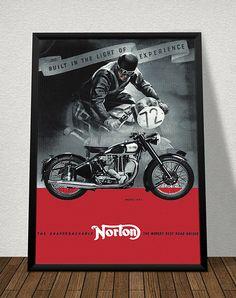 Affiche NORTON 1947 - Garage Atelier Vintage - Limited Edition