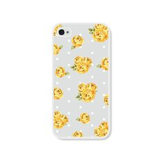 Yellow and Grey Floral iPhone 5 Case  Plastic iPhone by fieldtrip, $18.00