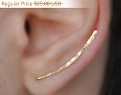 Ear Climber Gold Bar Climber Gold Filled by sofisjewelryshop