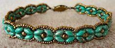 Linda's Crafty Inspirations: Bracelet of the Day: SuperDuo Rosette Bracelet