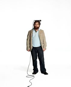 He is more entertaining as a stand up comedian. Zach Galifanakis (photo by Chris Buck)