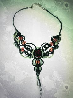 Necklace.🆕 handmade with technique of macrame. Unique all my work.