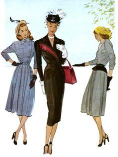 Vintage 1950 S Sewing Pattern Jacket Amp Skirt Pencil Suit