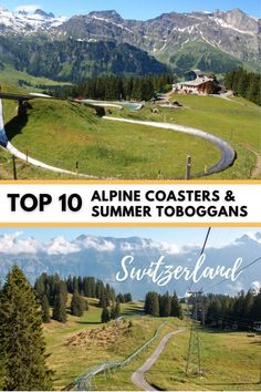 After a hike in the Swiss alps, you can zoom down the mountain on alpine coasters and summer toboggan ridesa fun add-on to any hike or mountain excursion. Here are ten of our favorite alpine coasters and slides in Switzerland, how to ride them and what to expect at the mountain. Also a map and links to all alpine coasters and slides in Switzerland.