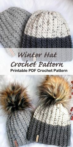 Crochet hat pattern - womens hat- Make a winter hat - A Crafty Life Looking for some cozy winter Crochet Hat Patterns to try? There are lots of different hats to try free and paid. Make some hats as gifts or for you. Mens Crochet Beanie, Crochet Turban, Crochet Hats, Easy Crochet Hat Patterns, Crochet Hat Sizing, Beanie Pattern Free, Crochet Beanie Pattern, Crochet Unicorn Hat, Crochet Winter Hats