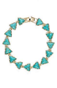 Kendra Scott 'Ripley' Triangle Stone Bracelet available at #Nordstrom