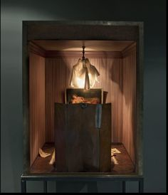 Charles Matton | In 'Enclosures', French artist Charles Matton creates meticulous miniature versions of interiors of the studios of Francis Bacon, Rembrandt, Hopper and Giacometti, as well as Baudrillards's library and Freud's study. The atmospheric boxes are painstakingly handmade with intricate details in miniature, including light sockets, furniture and fading wallpaper.
