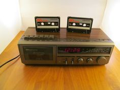 Sears Roebuck and Co  Alarm Clock Radio Tape Cassette Player & Recorder   Tested Works Great Includes 2 blank Tapes  13 x 7 x 4.5 H  Weight 4 lb 9 v Battery Back up We have a lot of Unique Gifts Shipping weight is 4-5 lb from 80817