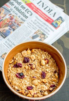 WhenIAte, India food blog making recipes from all around the world: Homemade Cereal: Hazelnut Granola