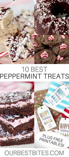All of your favorite peppermint treats from Our Best Bites Packed into one place! The free printable tags help make any peppermint treat a perfect neighbor gift! #OurBestBites #Peppermint #ChristmasTreats #PeppermintDessert #NeighborGift #FreePrintable #PrintableTag #PeppermintBrownies #PeppermintCake #PeppermintCookies Holiday Treats, Christmas Treats, Christmas Stuff, Christmas Recipes, Holiday Recipes, Peppermint Brownies, Peppermint Cookies, Customizable Gifts, Neighbor Gifts