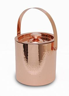 TOP SHELF CREATION Handcrafted Hammered Copper Ice Bucket...7.6 x 7.2 x 7.1 inches $30