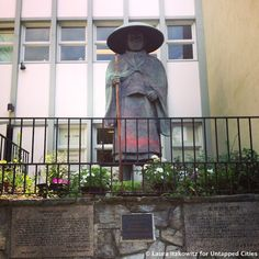 Shinran Shonin, the statue that survived the Atomic Bomb in Hiroshima on the Upper West Side