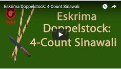 Hier zeige ich dir den klassischen 4-Count Sinawali aus dem Eskrima. Dabei handelt es sich um einen speziellen Ablauf, den man mit zwei Stöcken gleichzeitig ausführt.