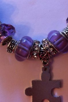 European Pandora style glass bead bracelet on Etsy, $30.00