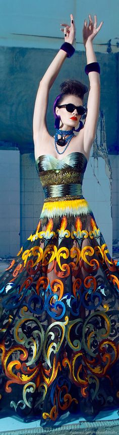 WHAT. OMG this dress  Nicolas Jebran   Couture, F/W 2014