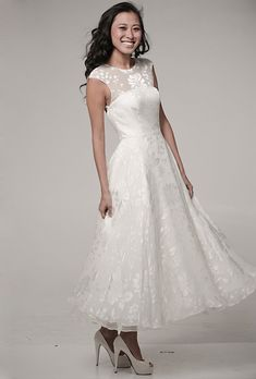 I like this, but floor length. Affordable Wedding Dresses (Under $1,000!)
