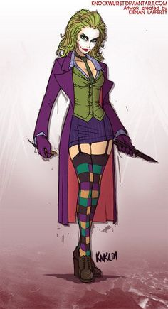 Female Joker Heath Ledger The Dark Knight rule 63 cosplay costume. $35.00, via Etsy. This isn't technically Harley but it is a female joker so I am going to put it here anyway.
