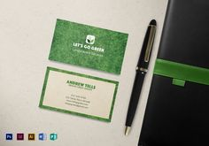 85 best business card designs images on pinterest card designs landscaping business card template reheart Image collections