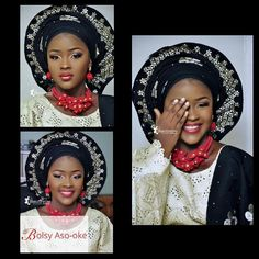 """Black is beautiful  Asooke & accessories by @bolsy_asooke  Bolsy Aso oke is the """"City People Aso-oke designer of the year""""  Visit us at 18 Morocco road by Charity B/stop Shomolu Lagos Nigeria.  Call or WhatsApp us on 08054758318.  Visit our website www.bolsyasooke.com  Follow us on Instagram @bolsy_asooke ........Makeup by @beautywise_bola  #swsponsoredpost #asooke #cool #loveit"""