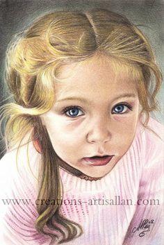 Colored pencils Portrait by Allan Barbeau on ARTwanted