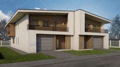 proiecte de case bifamiliale Design Case, Home Fashion, House Plans, Garage Doors, 1, House Styles, Outdoor Decor, Home Decor, Houses