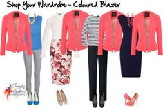 shop your wardrobe coloured blazer