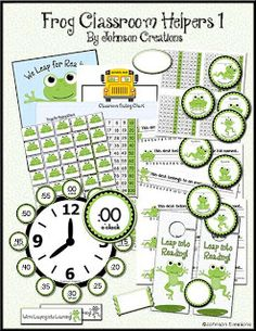 Johnson Creations: Frog Classroom Helpers Set 1
