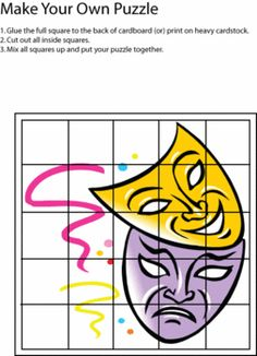 Cut and Play Mardi Gras Mask Puzzle from Family Shopping Bag