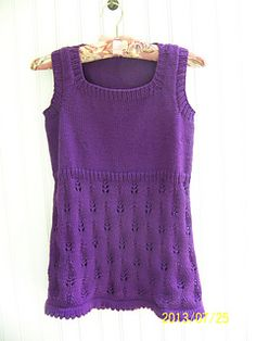 This was my first garment design ever and I won a summer knits challenge on Craftster with it. I hope you like it an be sure to check out the other patterns designed by me on Ravelry.