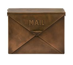 Old Fashioned, Antique look, mail box with hinged lid resembles the look of an envelope Product Description Product Material: 100% zinc galvanized iron sheet Pr