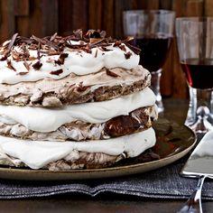 Hazelnut-and-Chocolate Meringue Cake | Food & Wine