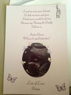 Godparents request card                                                                                                                                                                                 More