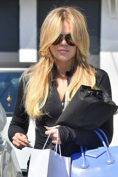 Khloe Kardashian's (almost) Kim-level blond hair color
