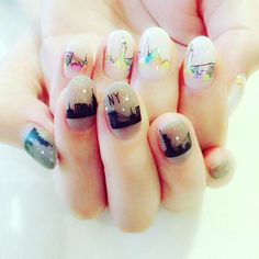 昼と夜 サロンでも大人気です嬉しい〜✨❤️ #pool #poolnail #tsumekira #nyc #ny #kawaii #工藤恭子 #nail #nailart #follow #like #instagood #art #kyokokudo #kyokokudonail #magazine #magazinpublication #japan #trend #trendnail #fashion #gel #gelnail #highest #네일 #네일아트 #美甲
