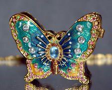Bejeweled Butterfly Trinket Box