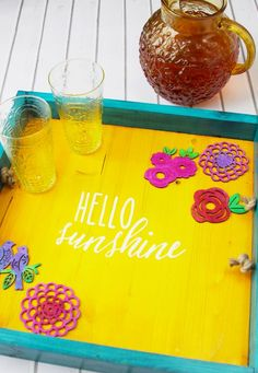 DIY Colorful Summer Serving Tray