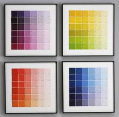Framed gradient colored paper choices