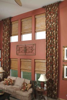 Tall Window Treatments Curtains With Iron Piece In The Center Could Work For Our Formal Living